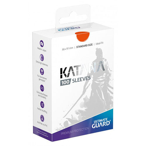Deck Protector Ultimate Guard Katana Standard Orange 100ct