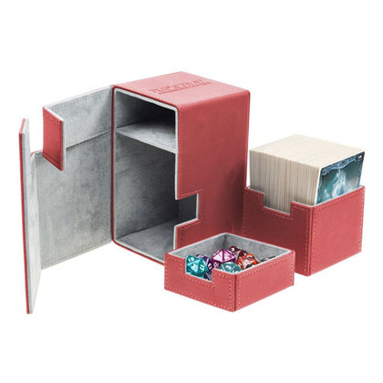 Deck Box Ultimate Guard Flip n Tray100+ Standard Size Xenoskin Red