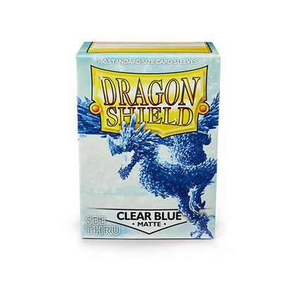 Deck Protector Dragon Shield Standard 100ct Clear Blue Matte