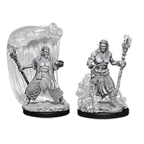 D&D Nolzurs Marvelous Unpainted Minis Water Genasi Male Druid