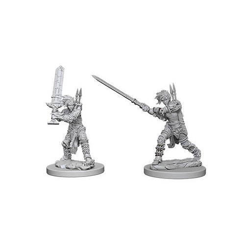 Pathfinder Deep Cuts Unpainted Miniatures Human Female Barbarian