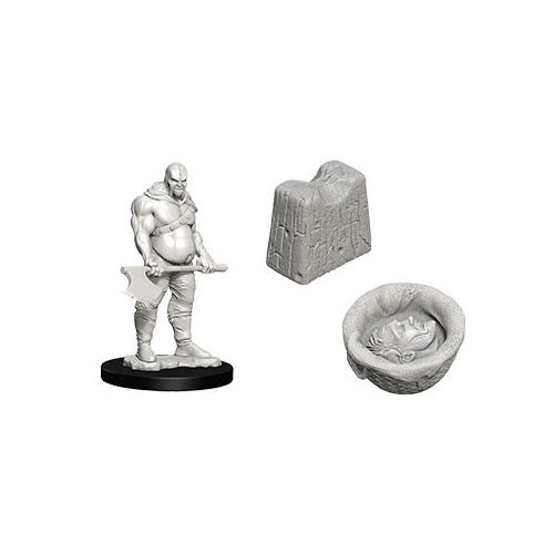 Wizkids Deep Cuts Unpainted Miniatures Executioner and Chopping Block