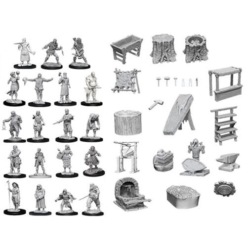 Wizkids Unpainted Townspeople and Accessories