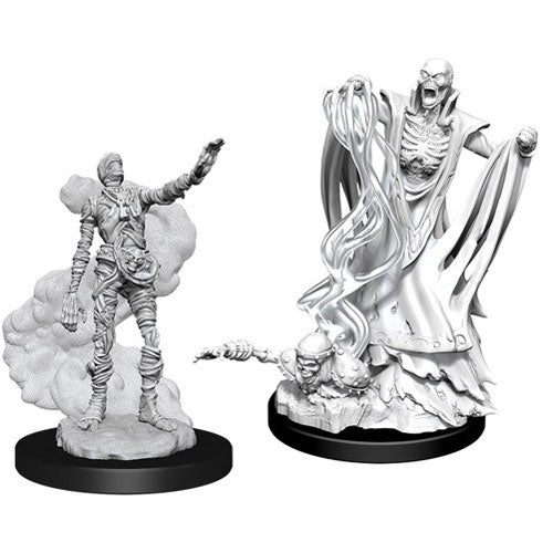 D&D Nolzurs Marvelous Unpainted Miniatures Lich and Mummy Lord