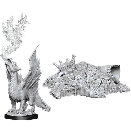D&D Nolzurs Marvelous Unpainted Gold Dragon Wyrmling & Treasure
