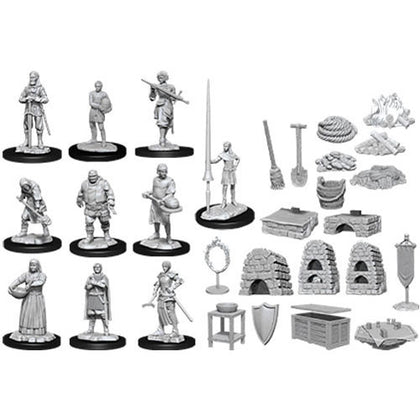 Pathfinder Deep Cuts Unpainted Miniatures Kingdom Retainers