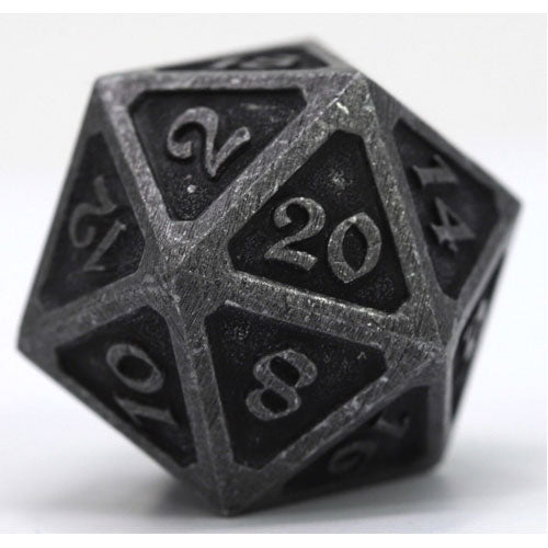 D20 Die Hard Dice Metal Mythica Dark Iron