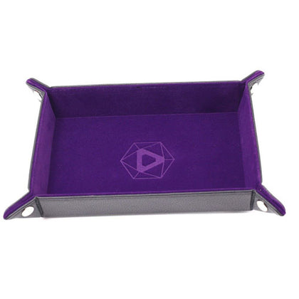 Die Hard Dice Folding Rectangle Tray Purple  Velvet