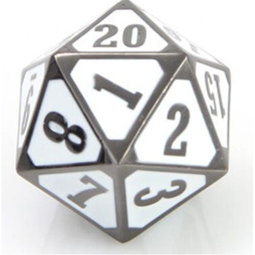 Die Hard Dice Metal MTG Roll Down Counter Sinister White
