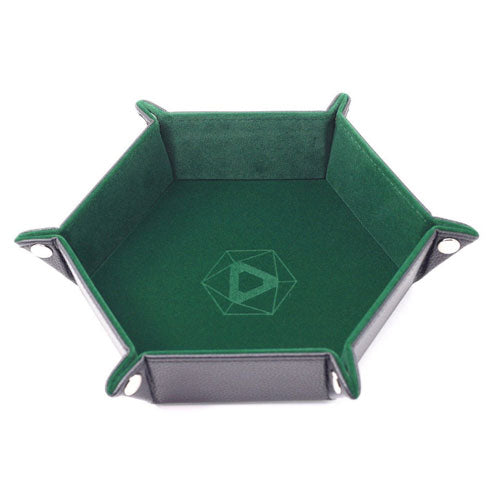 Die Hard Dice Folding Hex Tray Green Velvet