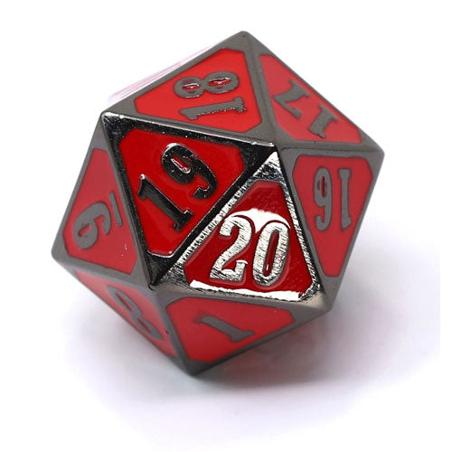 Die Hard Dice Metal MTG Roll Down Counter Sinister Red