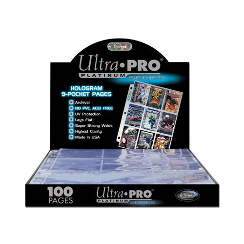 Binder Pages Ultra Pro Single Sleeves 9 Pocket Top Load Box