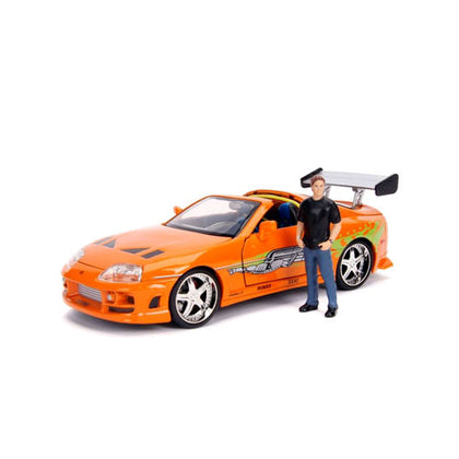 Fast & Furious 1995 Toyota Supra 1:24 Scale with Figure Hollywood Rides Diecast Vehicle