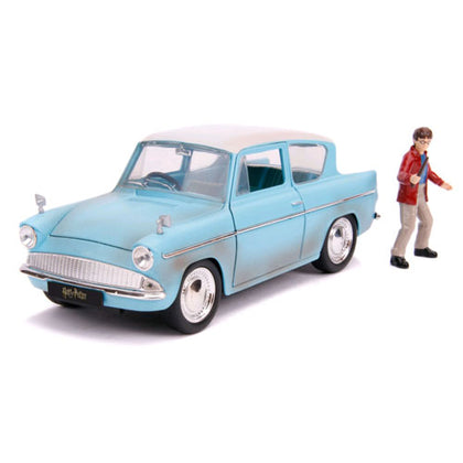 Harry Potter 1959 Ford Anglia 1:24 Scale with Figure Hollywood Rides Diecast Vehicle