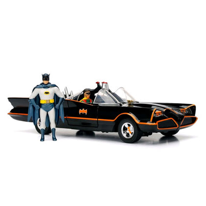 Batman 1966 Batmobile 1:24 Scale with Figures Diecast Vehicle