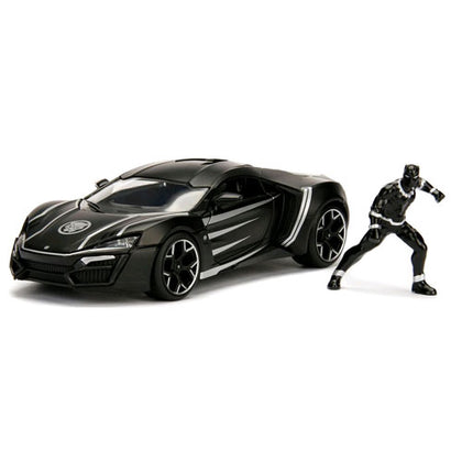 Black Panther Lykan Hypersport 1:24 Scale with Figure Hollywood Rides Diecast Vehicle