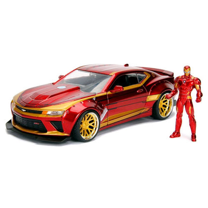 Iron Man 2016 Chevy Camero SS 1:24 Scale with figure Hollywood Rides Diecast Vehicle