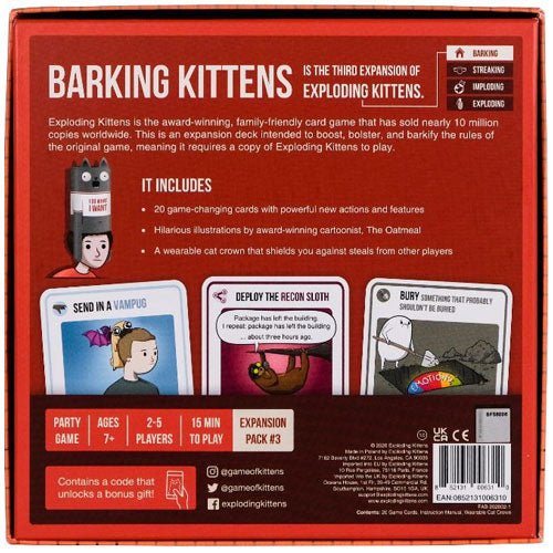 Barking Kittens Exploding Kittens Expansion