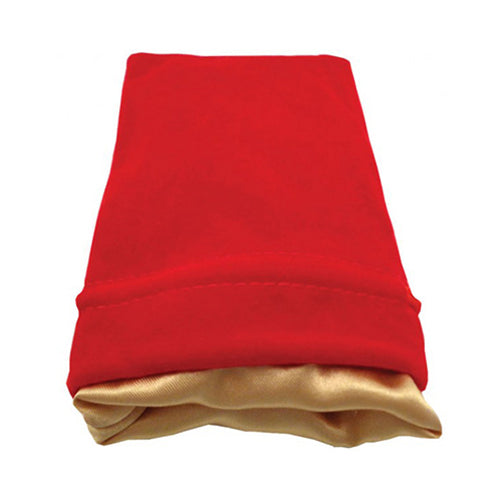 Dice Bag MDG Standard Velvet Red/Satin Lining Gold