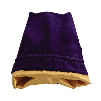 Dice Bag MDG Standard Velvet Purple/Satin Lining Gold
