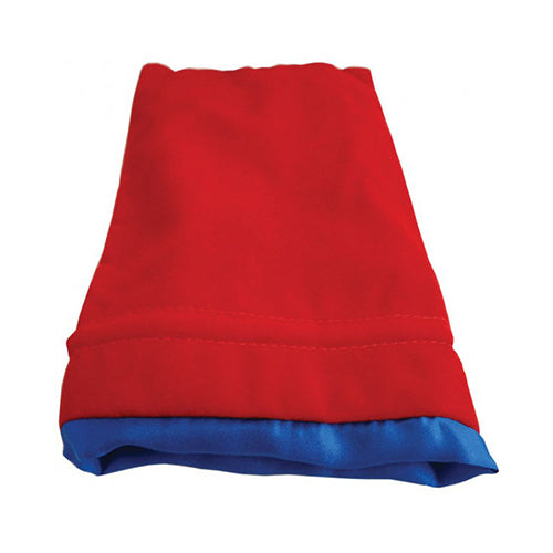Dice Bag MDG Large Velvet Red/Satin Lining Blue