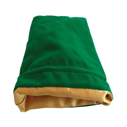 Dice Bag MDG Large Velvet Green/Satin Lining Gold