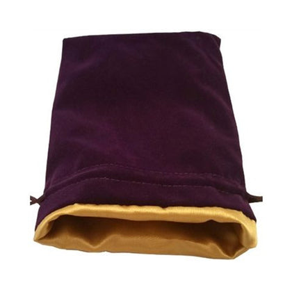Dice Bag MDG Large Velvet Purple/Satin Lining Gold