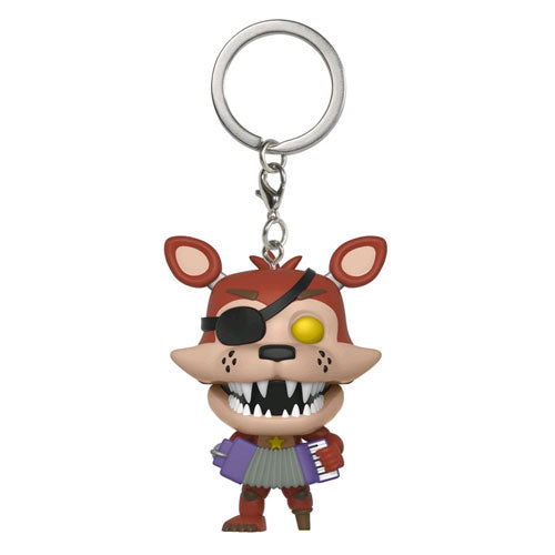 Five Nights at Freddys Pizza Sim Rockstar Foxy Pop! Vinyl Key Chain