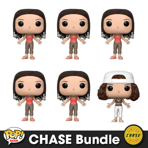 Friends Monica Geller with Braids Pop! Vinyl CHASE Bundle