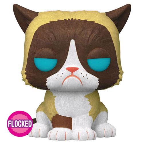 Icons Grumpy Cat Flocked US Exclusive Pop! Vinyl
