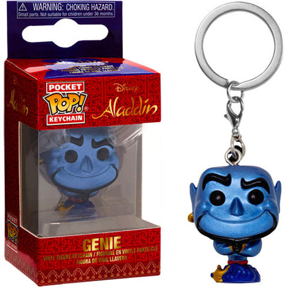 Aladdin Genie Metallic US Exclusive Pop! Vinyl Key Chain