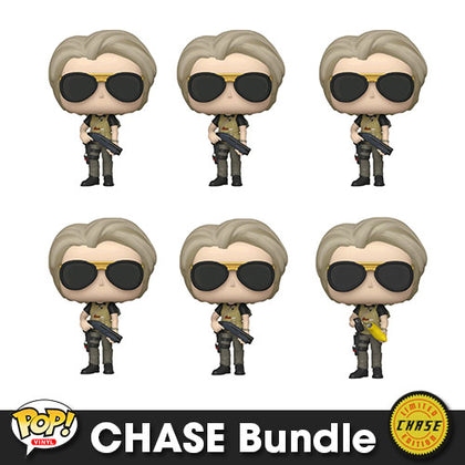 Terminator Dark Fate Sarah Connor Pop! Vinyl CHASE Bundle