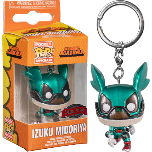 My Hero Academia Izuku Midoriya Metallic US exclusive Pop! Vinyl Key Chain