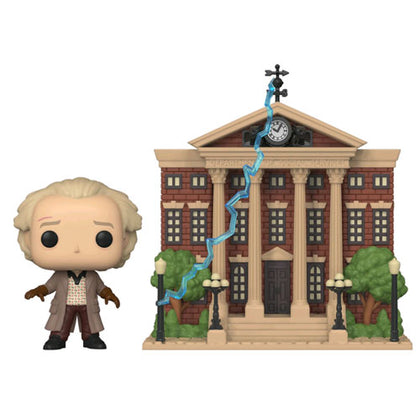 BTTF Doc with Clock Tower Pop! Vinyl Town