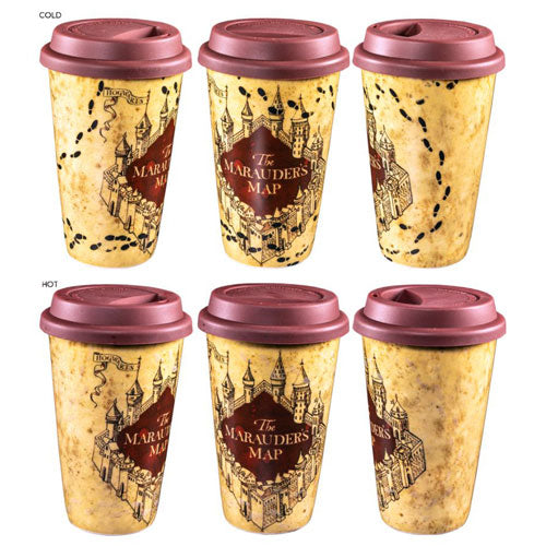 Harry Potter Marauders Map Heat Change Travel Mug