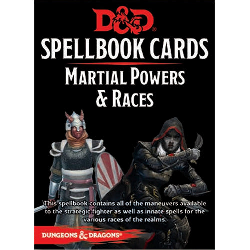 D&D Spellbook Cards Martial Powers and Races Deck 2017 Edition