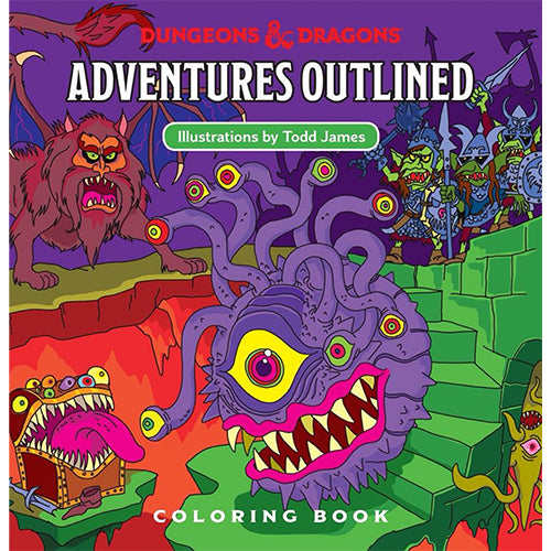 D&D 5th Edition Coloring Book Monster Manual 1 Adventures Outlined