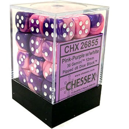 Chessex Gemini Pink Purple/White (36)