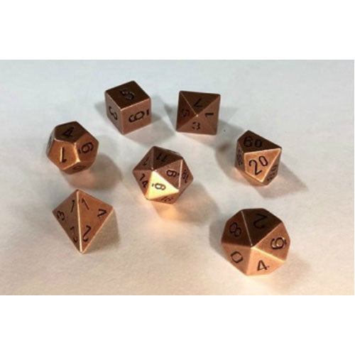 Chessex Copper Silver Polyhedral 7 Die Set