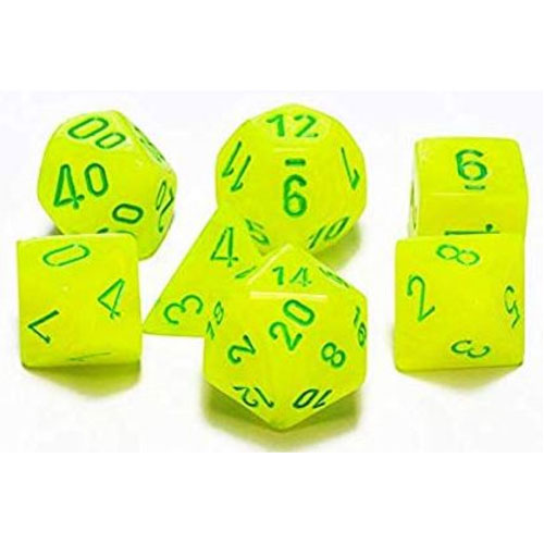 Chessex Vortex BrightYellow/Green 7 Die Set