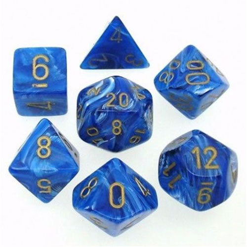 Chessex Vortex Blue/Gold 7 Die Set