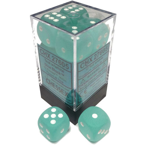 Chessex Teal/White D6 Set