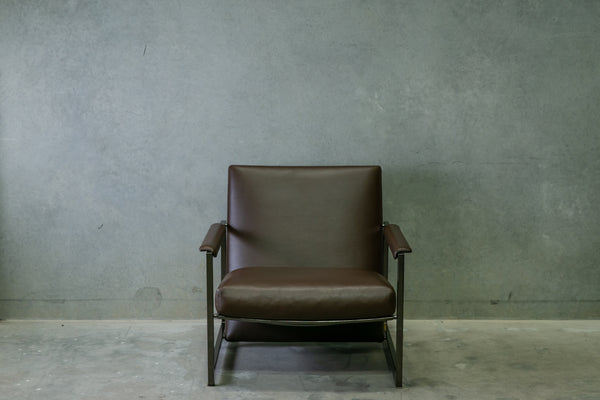 Minotti Leather Lounge Chair