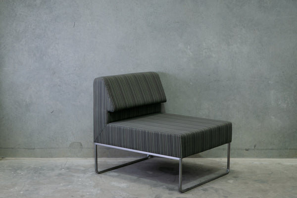 Basile & Evans Single Lounge Chair - Blue