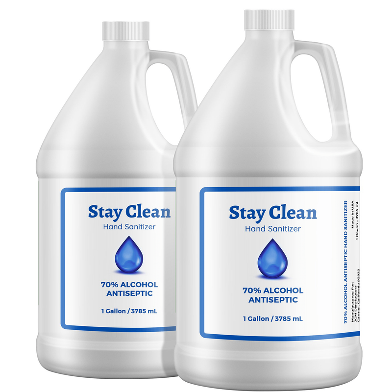 Gallon hand sanitizer 2 Gallon Hand Sanitizer Gel - 70% Alcohol Hand Sanitizer Gel - (2 Gallons / 256 Fl Ounces ) In stock