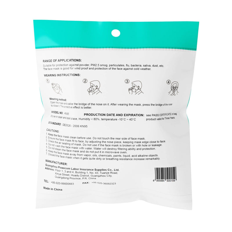 5 Layer Disposable Face Masks - 100 Pack