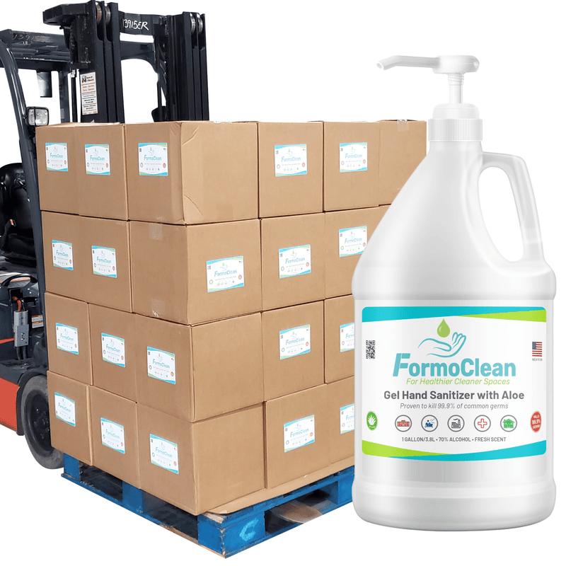 Hand Sanitizer Gel Hand Sanitizer Gel FormoClean 192 Gallons - 70% Ethyl Alcohol With Pump - Pallet In stock