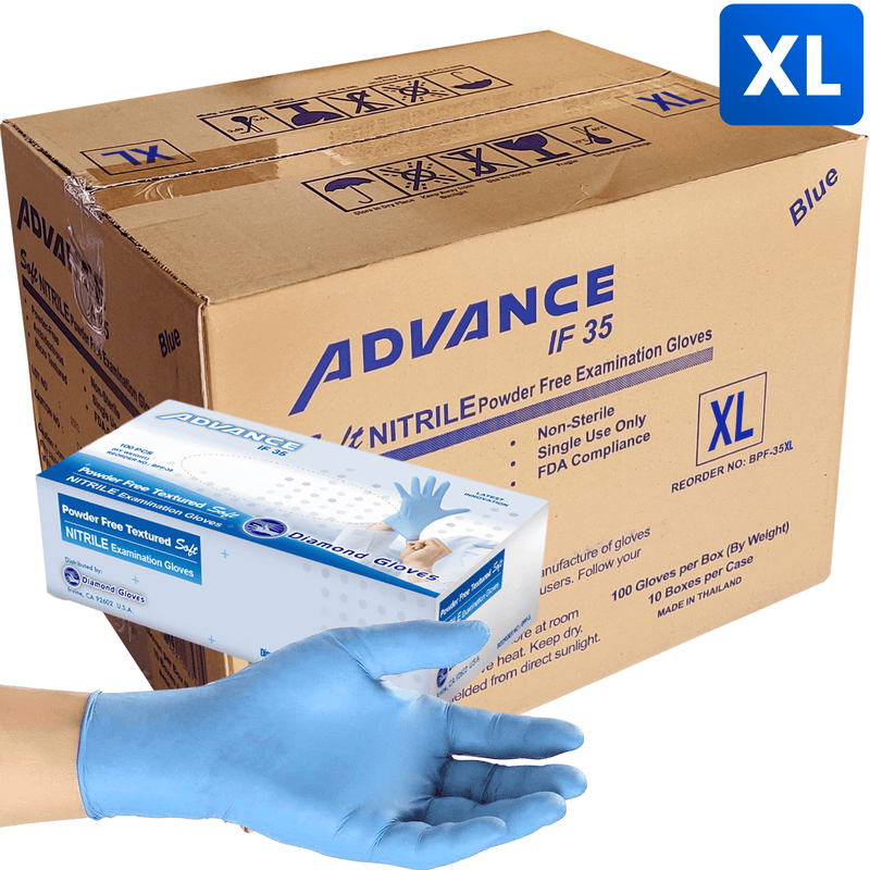 Nitrile Gloves Nitrile Exam Gloves, Case-Pack Size Extra-Large (1,000 pack) In stock