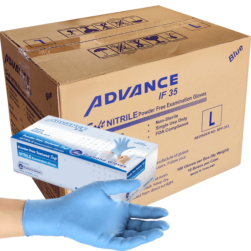 Nitrile Gloves Nitrile Exam Gloves, Case-Pack Size Large (1,000 pack) In stock