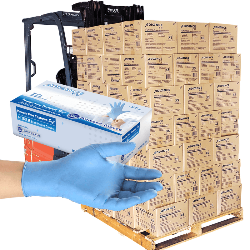 Nitrile Gloves Nitrile Exam Gloves, Pallet Size Extra-Small (105 Casepack) In stock